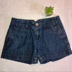 Vintage Loft Hi-Waisted Shorts, Notched Belt-loop